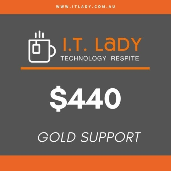 Gold Support I.T. Lady